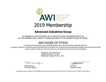 AWI-CERTIFICATE